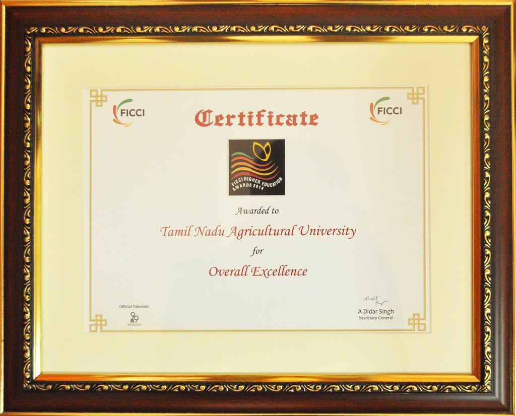 FICCI Award 2014